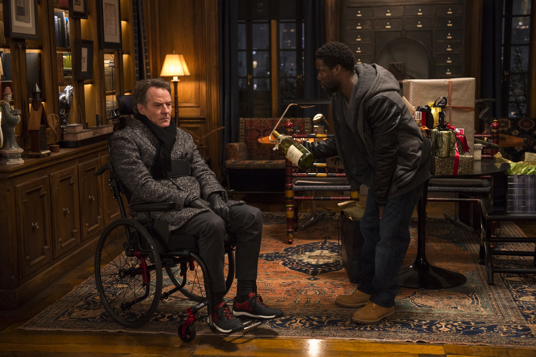 《活個精彩》可貴友情令人噴笑又感動 在美衝出億萬票房    「老白」布萊恩克萊斯頓戲裡半身不遂 戲外也坐輪椅行動